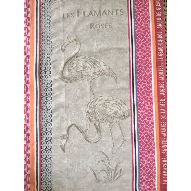 Fransk viskestykke-flamingo
